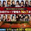 AKB48グループ歌唱力No.1決定戦の決勝曲と順位結果まとめ